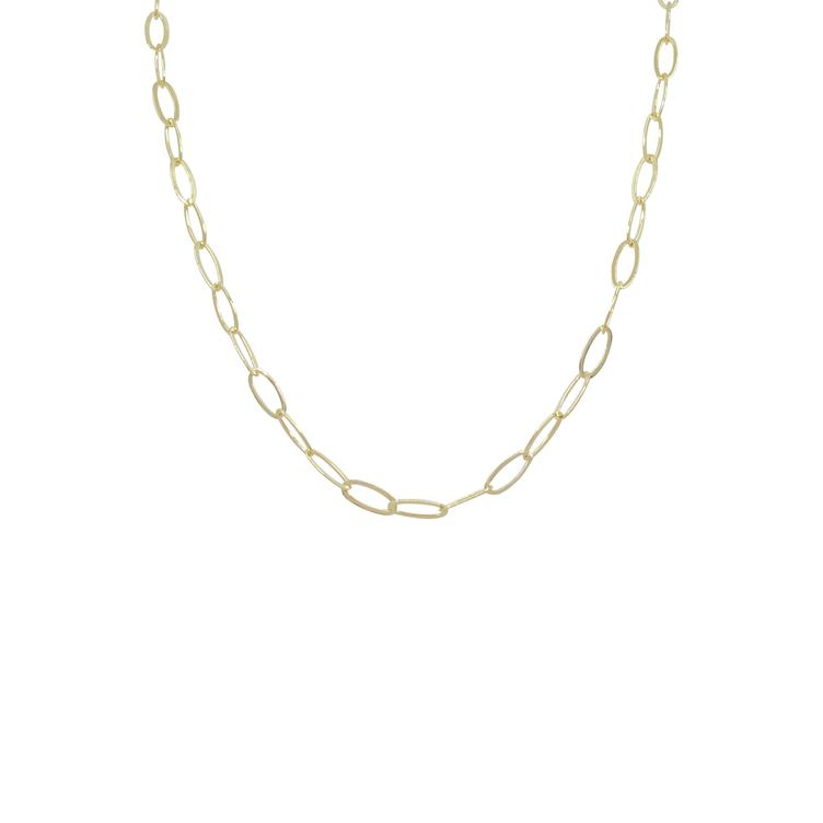 Kette gold Ellipse Glieder