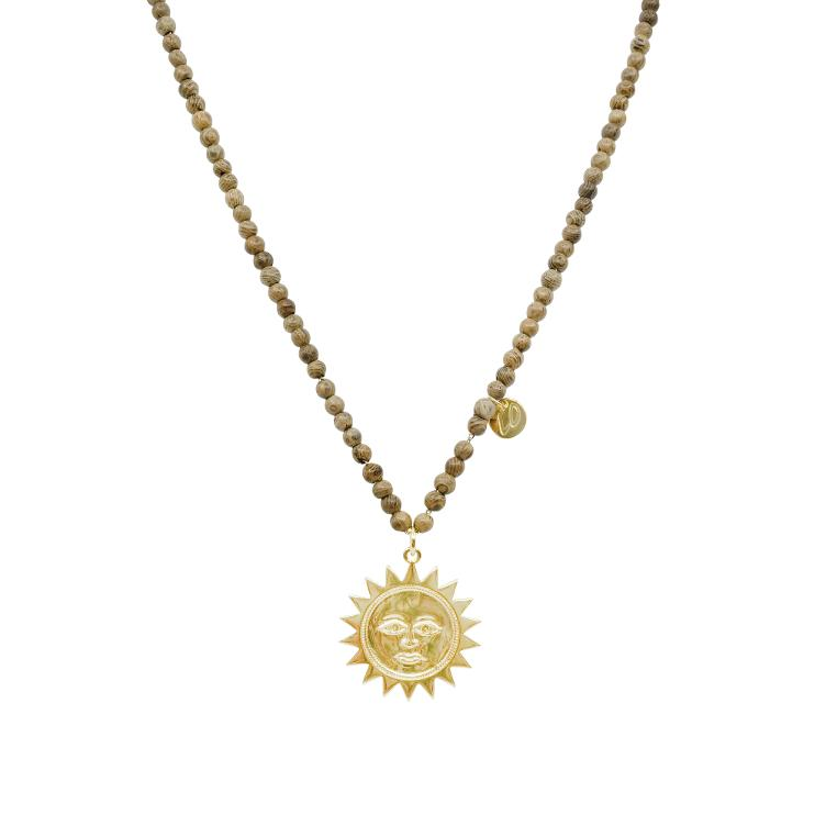 Collier gold lang Sonne