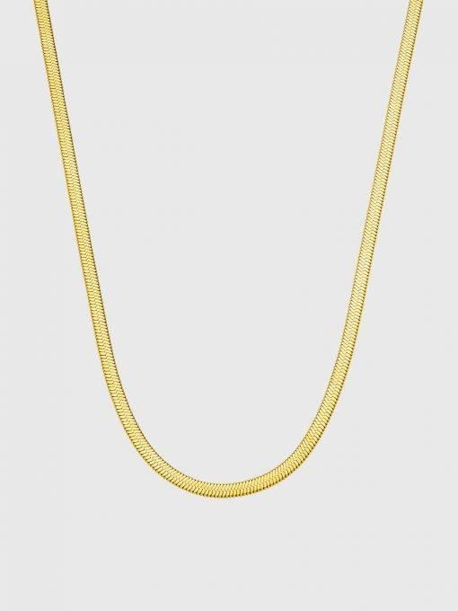 Kette Wide Sleek Gold