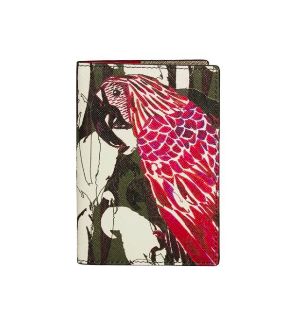 Passport Cover Camo Parrot