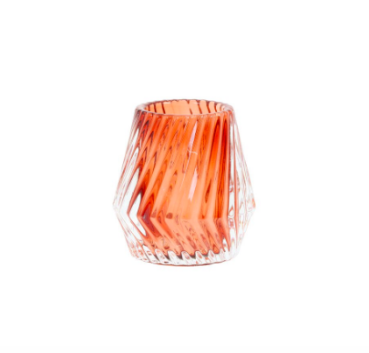 Teelicht Glas orange Deanu