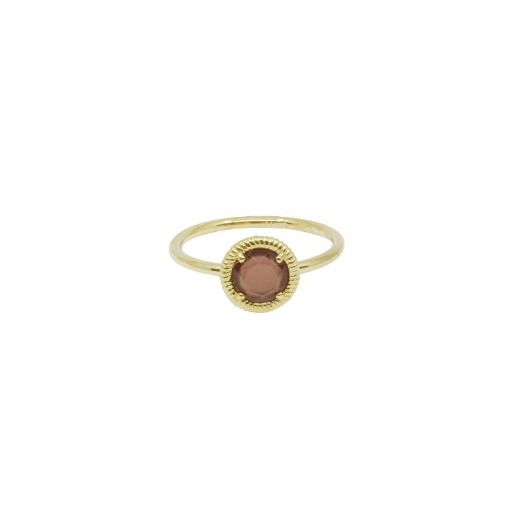 Ring gold Nora mit Swarovski bordeaux