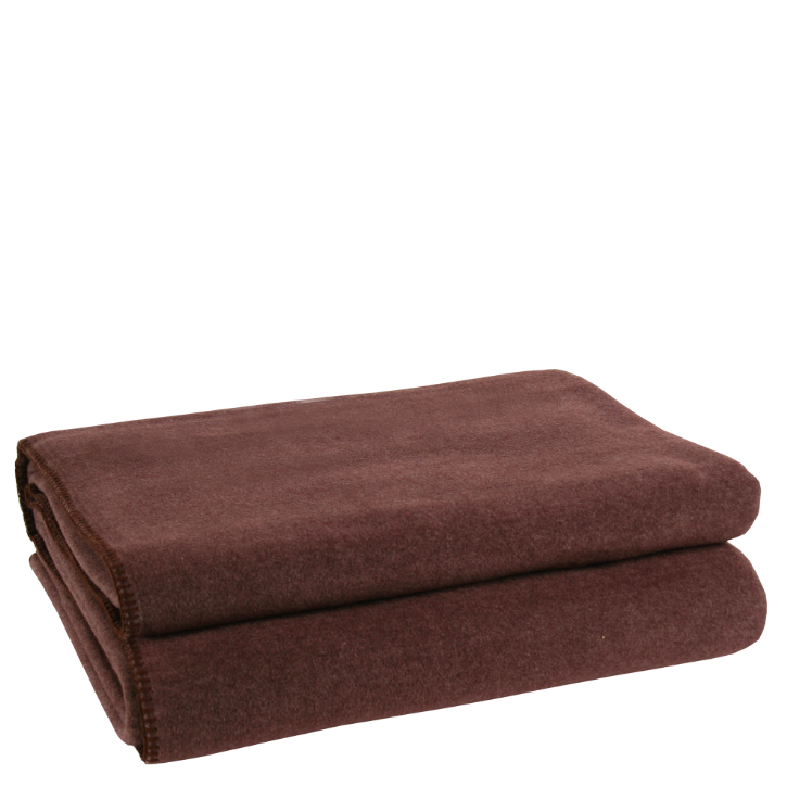 Decke Soft Fleece dark brown 160x200cm